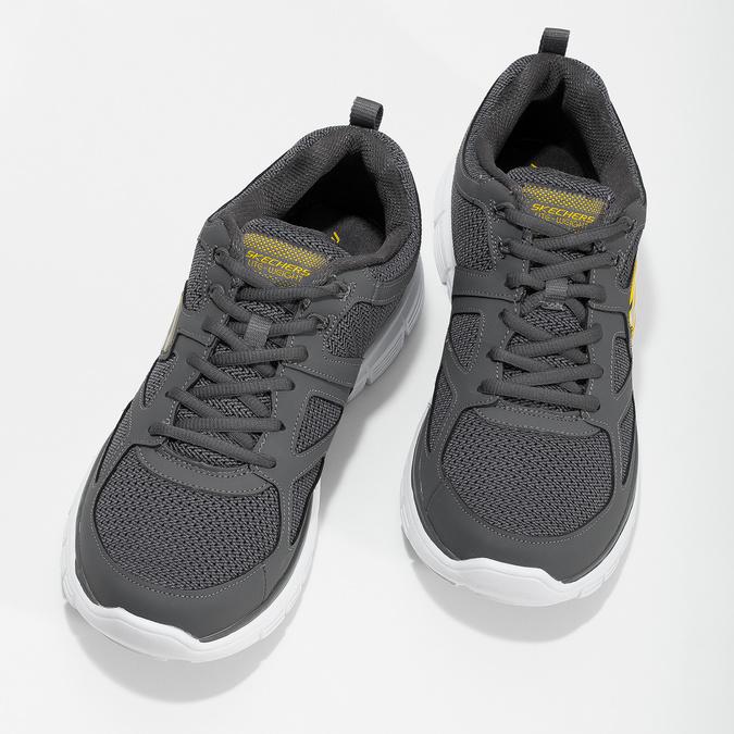 Šedé pánské tenisky ve sportovním stylu skechers, šedá, 809-2805 - 16