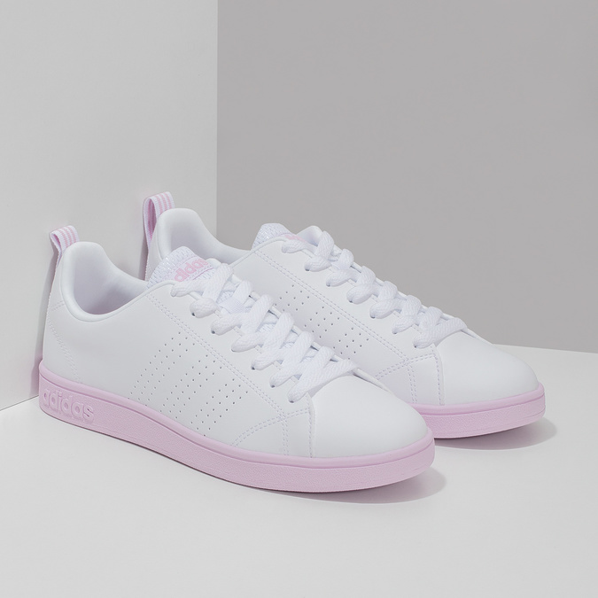 Dámské bílé tenisky s růžovou podešví adidas, bílá, 501-1533 - 26