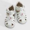 Kotníčkové dětské sandály s květinovou ozdobou bubblegummers, bílá, stříbrná, 161-1607 - 16