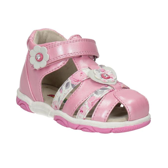 Bubblegummers Růžové dívčí sandály na suché zipy - Sandály  82618d3d4f