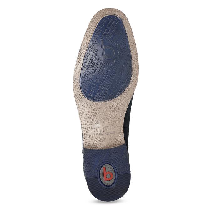 Tmavě modré kožené derby polobotky bugatti, modrá, 823-9016 - 18