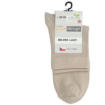 Vysoké dámské ponožky béžové matex, béžová, 919-8215 - 13