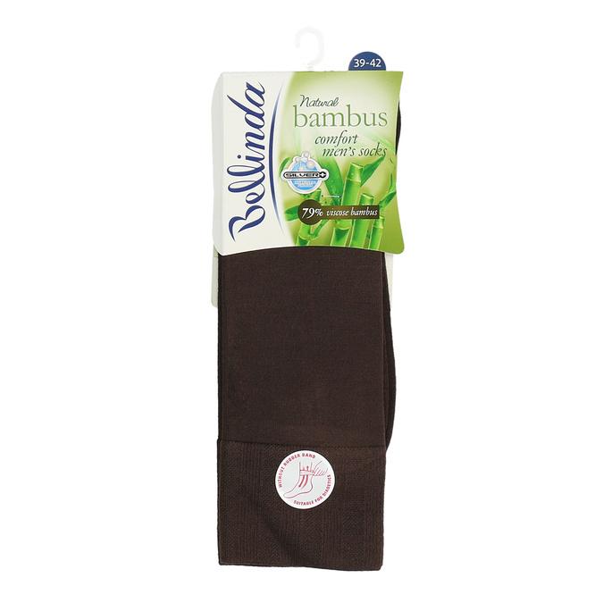 Pánské vysoké ponožky hnědé antibakteriální bellinda, hnědá, 919-4264 - 13