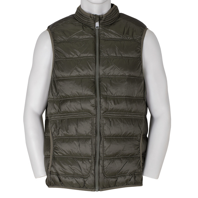 Pánská prošívaná vesta khaki bata, khaki, 979-7113 - 13