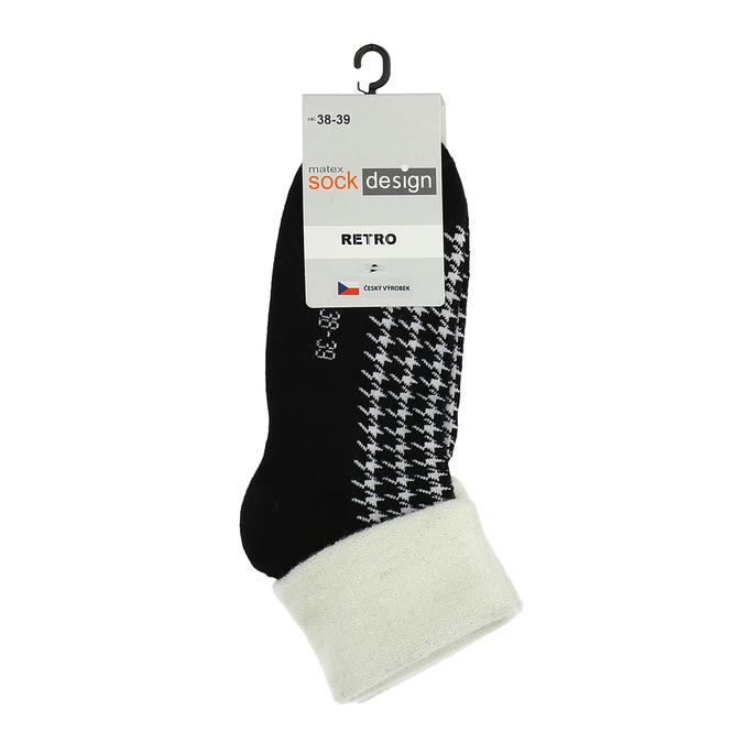 Retro ponožky matex, černá, 919-6356 - 13