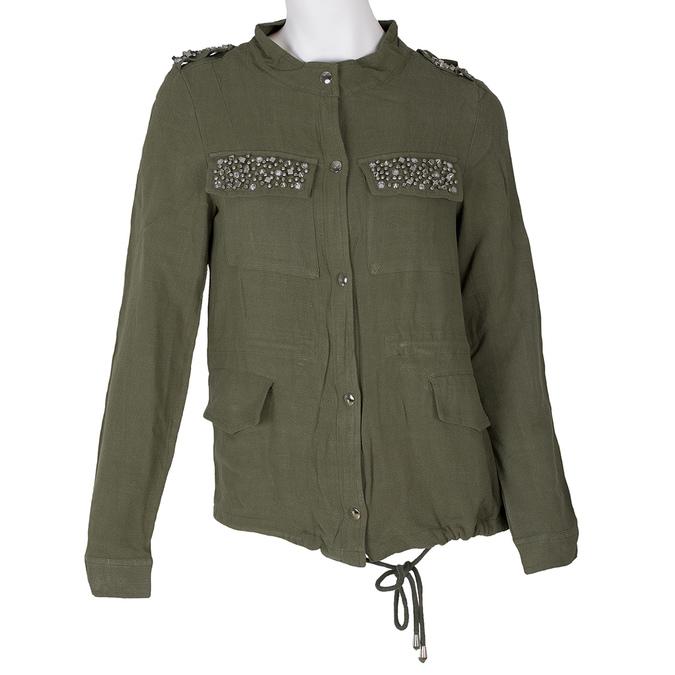 Dámská bunda v army stylu bata, zelená, 979-7112 - 13