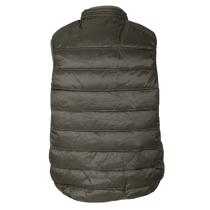 Pánská prošívaná vesta khaki bata, khaki, 979-7113 - 26