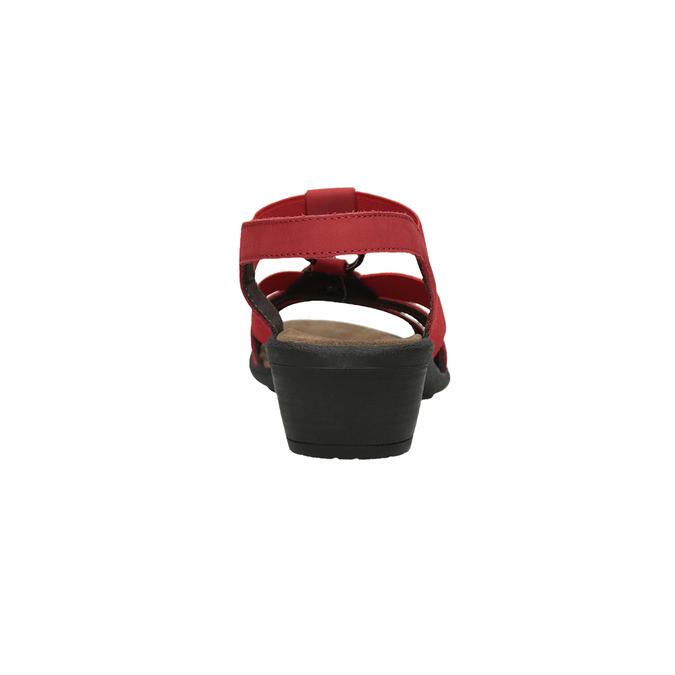 Dámské kožené sandály červené comfit, červená, 666-5619 - 15