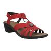 Dámské kožené sandály červené comfit, červená, 666-5619 - 13