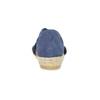 Kožené sandály na klínku modré bata, modrá, 563-9600 - 15