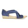 Kožené sandály na klínku modré bata, modrá, 563-9600 - 19