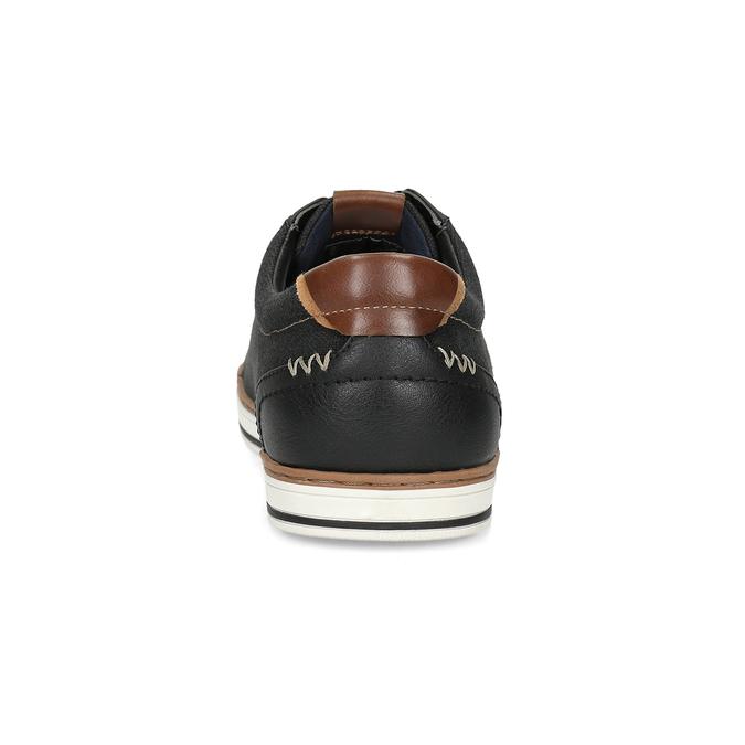 Pánské ležérní tenisky bata-red-label, černá, 841-6616 - 15