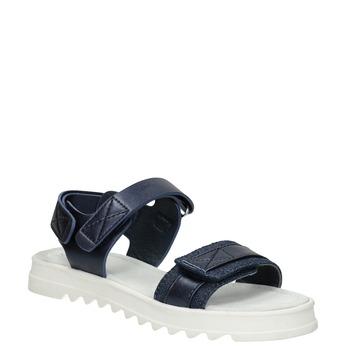 Sandály se strukturovanou podešví modré mini-b, modrá, 361-9613 - 13