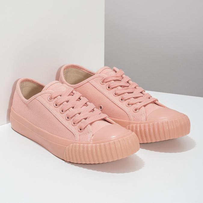Růžové dámské tenisky s gumovou špičkou bata-bullets, růžová, 589-5333 - 26