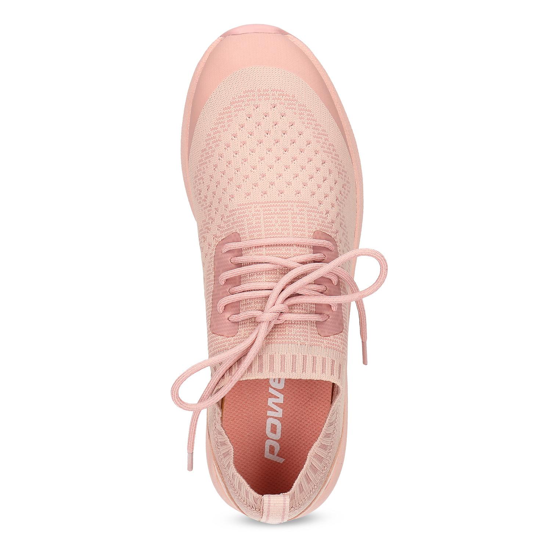Power Dámské světle růžové tenisky z úpletu - Městský styl  b80951f3b97