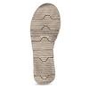 Šedo-černé kožené dámské sandály weinbrenner, černá, 566-6641 - 18