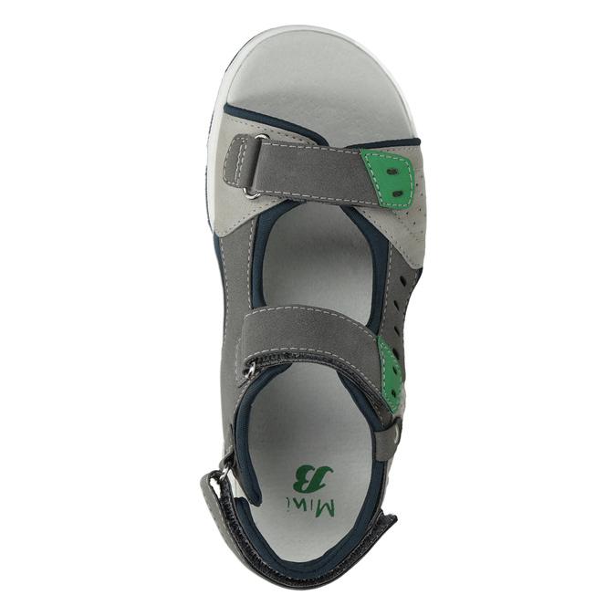 Chlapecké sandály ve sportovním stylu šedé mini-b, šedá, 461-2607 - 17