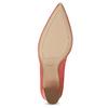 Kožené lodičky do špičky s vykrojením hogl, růžová, 723-5072 - 18