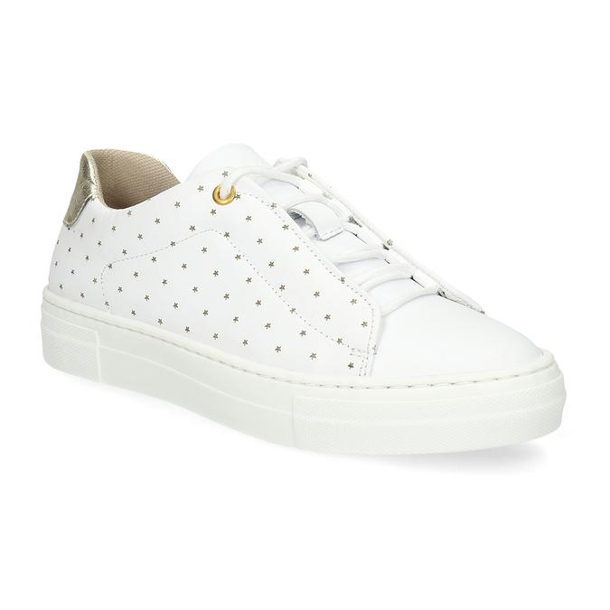 Dívčí kožené bílé tenisky s hvězdičkami bullboxer, bílá, 326-1607 - 13