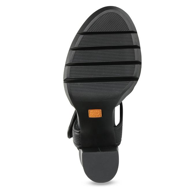 Dámské sandály na masivním podpatku flexible, černá, 761-6616 - 18