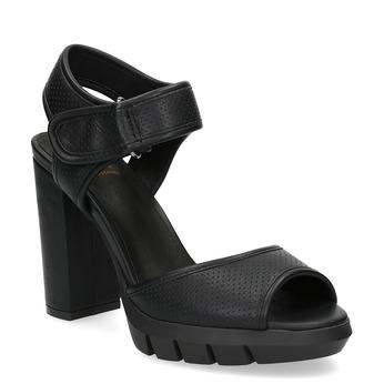 Dámské sandály na masivním podpatku flexible, černá, 761-6616 - 13