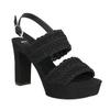 Černé dámské sandály na podpatku s propletením bata, černá, 769-6634 - 13