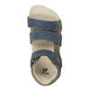 Dětské sandály na suché zipy mini-b, modrá, 261-9609 - 17