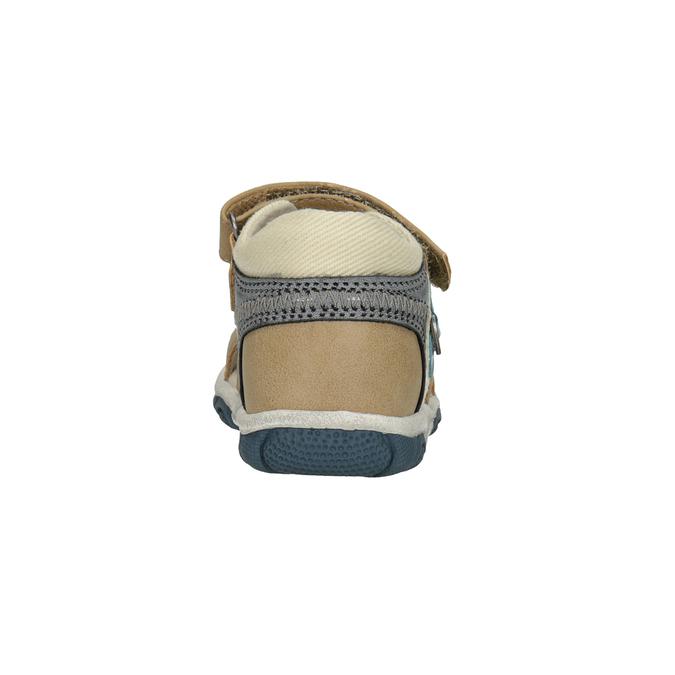 Dětské sandály na suché zipy bubblegummers, hnědá, 161-3606 - 15