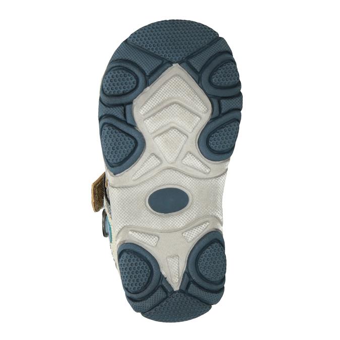 Dětské sandály na suché zipy bubblegummers, hnědá, 161-3606 - 19