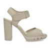 Sandály na masivním podpatku flexible, béžová, 761-2616 - 19