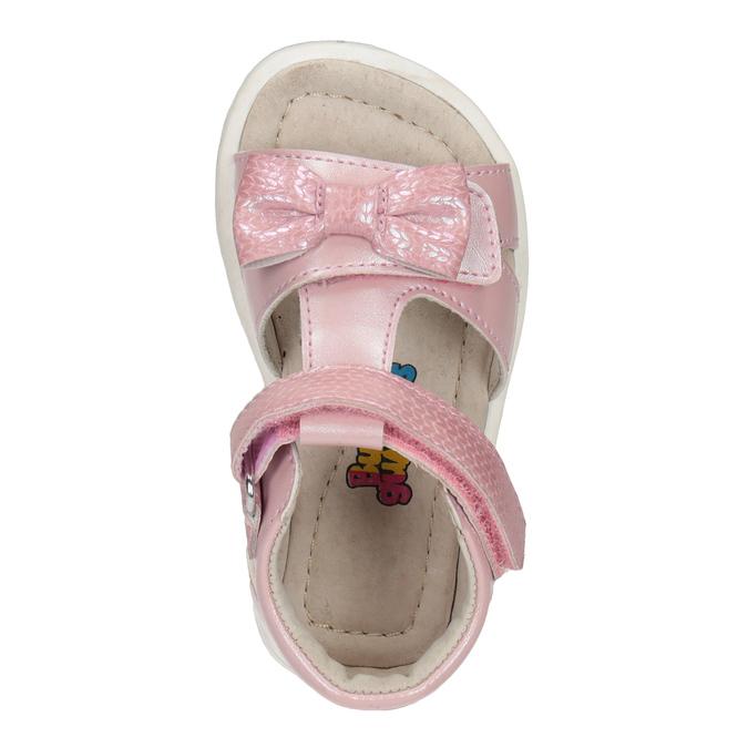 Dětské růžové sandály s mašličkou bubblegummers, růžová, 161-5608 - 17