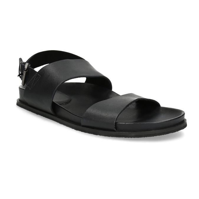 Černé pánské minimalistické kožené sandály bata, černá, 866-6638 - 13
