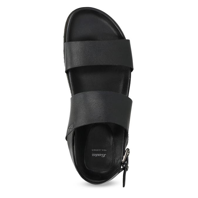 Černé pánské minimalistické kožené sandály bata, černá, 866-6638 - 17