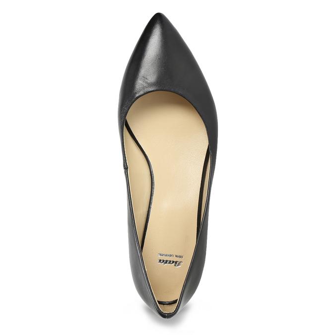 Kožené baleríny do špičky bata, černá, 524-6243 - 17