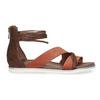 Kožené sandály s plnou patou bata, oranžová, 566-5646 - 19
