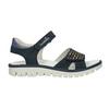 Dívčí kožené sandály s kamínky modré mini-b, modrá, 463-9603 - 16