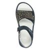 Dívčí kožené sandály s kamínky modré mini-b, modrá, 463-9603 - 17