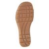 Kožené bílé sandály na suchý zip gabor, bílá, 666-1018 - 17