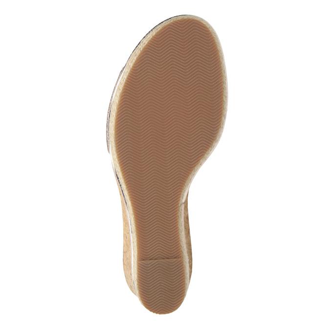 Kožené zlaté sandály na platformě gabor, zlatá, 766-8043 - 17