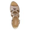 Kožené zlaté sandály na platformě gabor, zlatá, 766-8043 - 15