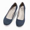 Kožené lodičky šíře H bata, modrá, 623-9602 - 16