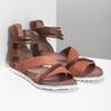 Kožené sandály s plnou patou bata, oranžová, 566-5646 - 26