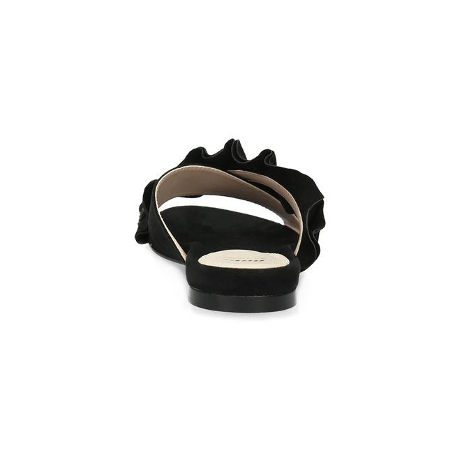 Černé dámské nazouváky s volánem a kamínky bata, černá, 569-6602 - 15