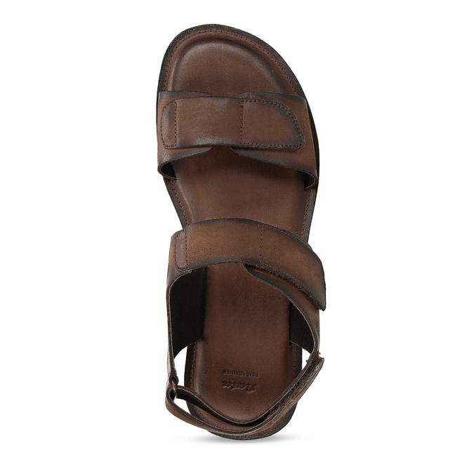 Pánské kožené sandály hnědé bata, hnědá, 866-4633 - 17
