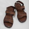 Pánské kožené hnědé Ombré sandály bata, hnědá, 866-4633 - 16