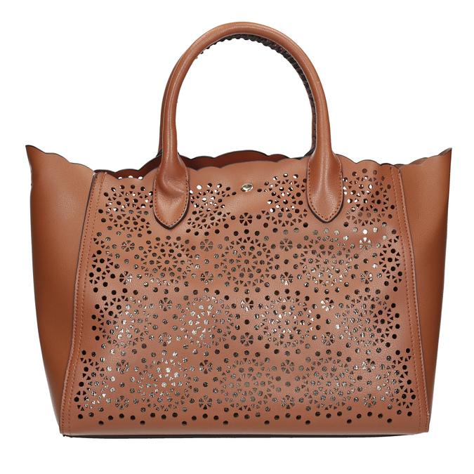 Hnědá dámská kabelka s perforací bata, hnědá, 961-3265 - 26