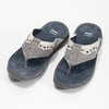Pánské kožené žabky zdobené bata, šedá, 866-2845 - 16