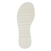 Bílé dívčí sandály se strukturovanou podešví mini-b, bílá, 361-1613 - 19