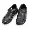 Pánské kožené sandály černé bata, černá, 864-6600 - 16