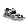 Modré kožené pánské sandály na suchý zip bata, modrá, 866-9640 - 13